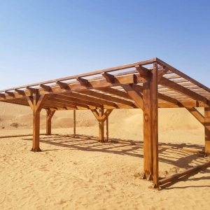 Steel Structure with wooden paint finish Dubai UAE